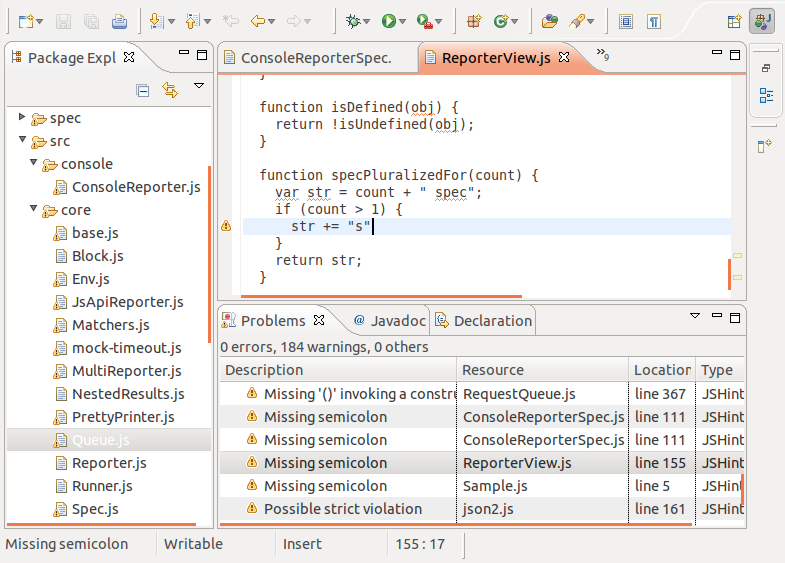 jshint-eclipse - JSHint Integration for the Eclipse IDE